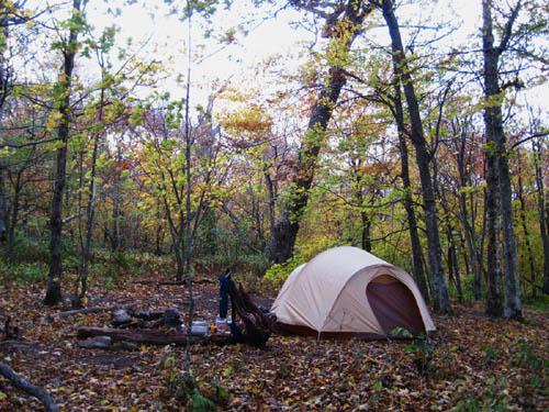 Campsite on Ridge near Big Bald