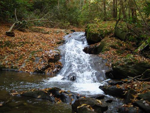 Falls found above Upper Devils Fork Falls