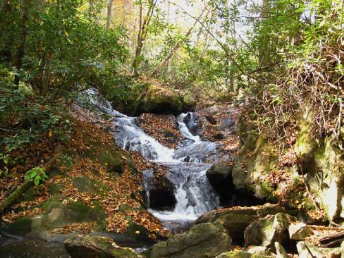 Second set of falls found above Upper Devils Fork Falls