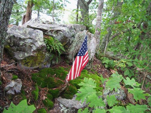 Patriotic Flag on Temple Hill Ridge
