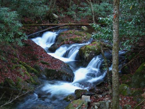 Cascades found along Rocky Fork Creek
