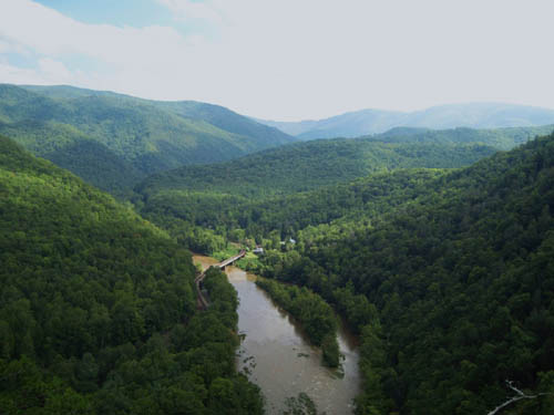 View of Nolichucky Gorge from Temple Hill